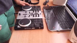 Testing my new Dj Controller!  Hercules Air