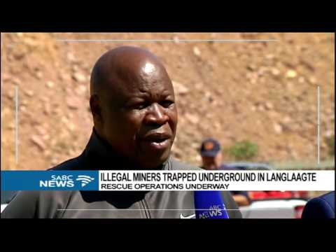 Update on trapped illegal miners in Langlaagte