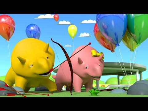 Ucz się gier 👶 Dino i Dina mają zawody 👶 Bajki Edukacyjne dla Dzieci