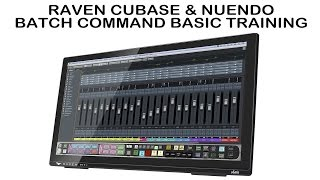 Cubase Nuendo Batch Command Basic Training