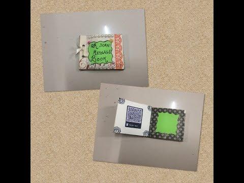Birthday / Valentine's Day Gift Idea | Secret QR code Message book| Handmade Crafters