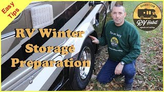 RV Winter Storage Preparation Tips – How to Winterize and Store an RV