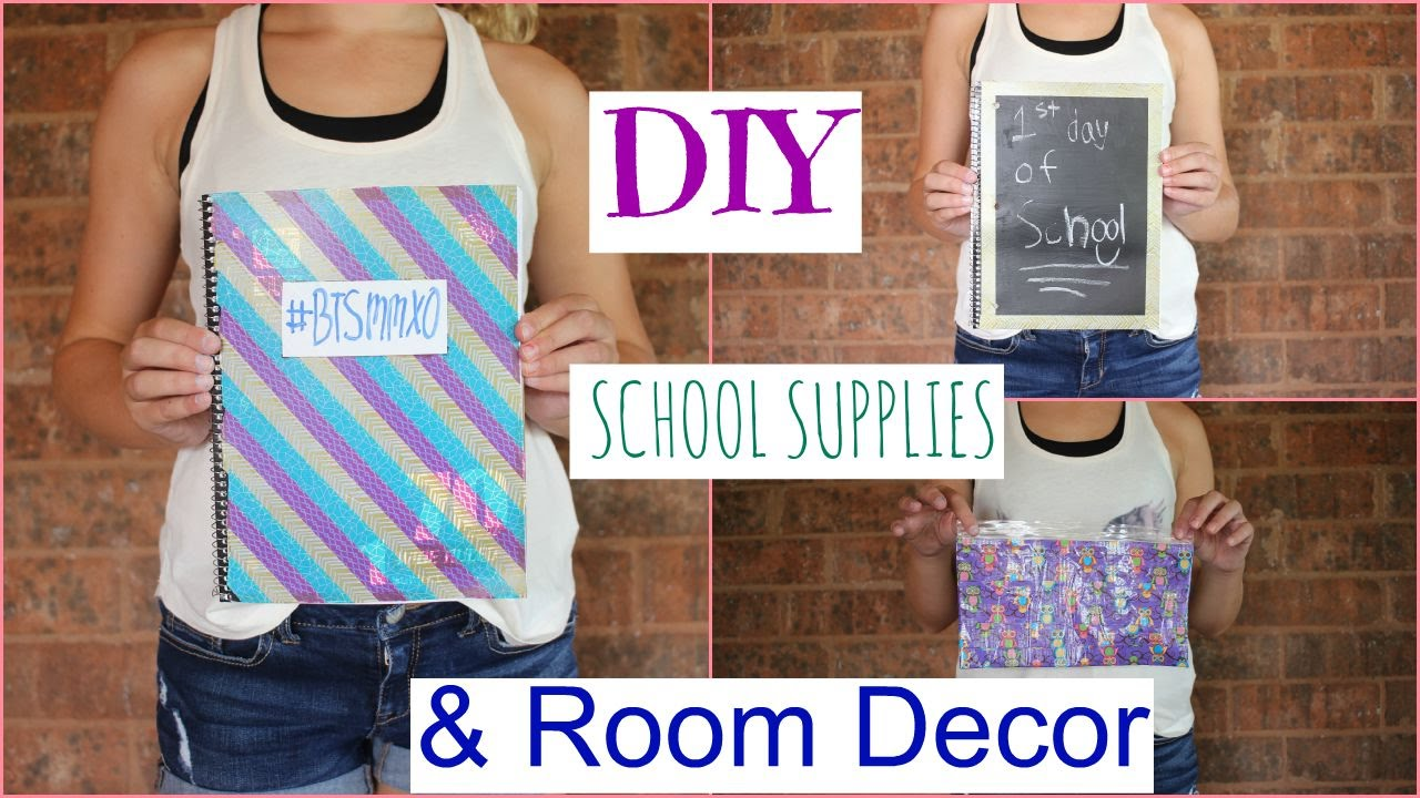 Diy school supplies room decor youtube for Room decor youtube channel