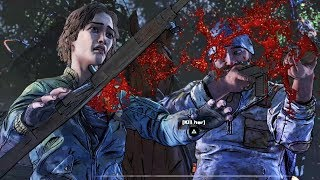 Clementine Kills Lilly With an Arrow - All Choices - The Walking Dead The Final Season Episode 2