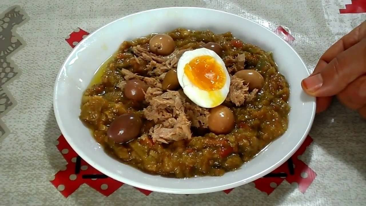 سلاطة مشوية Salade Mechouia Cuisine Tunisienne Youtube
