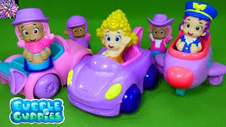 Bubble Guppies Toys Molly Deema Oona Race Cars Bubbletucky Super Market Pilot Airplane Cowgirl Toys