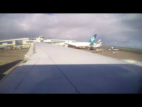 LONGEST FLIGHT | Departure from Auckland (NZAA RWY 23L) | QR921 | B777-200LR | Gate to FL290