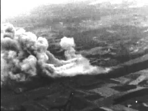 No 9 Squadron RAF Bomber Command Lancaster 1944 daylight mission