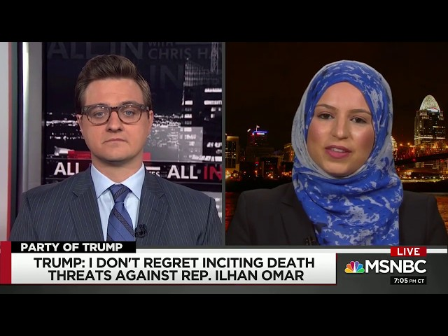 Video: CAIR National Board Chair Roula Allouch on MSNBC About Trump's Tweets  Endangering Rep. Omar