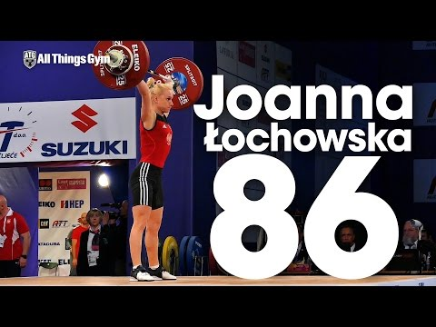 Joanna Łochowska (53kg, Poland) Snatching 86kg on her way to become 2017 European Champion!