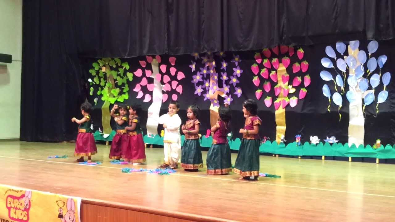 Rajanya 39 s 1st stage performance eurokids annual day 2013 for Annual day stage decoration images
