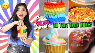 Testing Out *Viral* RAINBOW FOOD Hacks by 5 Minute Crafts | *I DIDN'T EXPECT THIS*