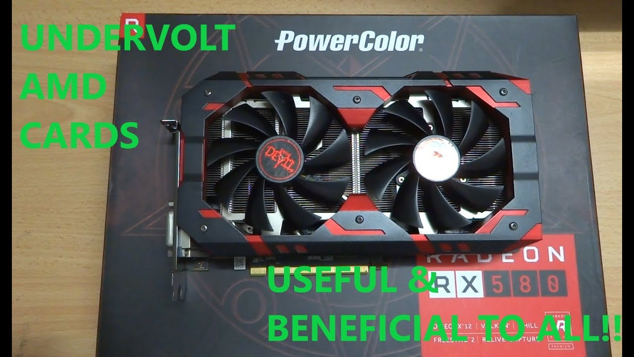 How to: Undervolt AMD RX580 / RX570 Tutorial