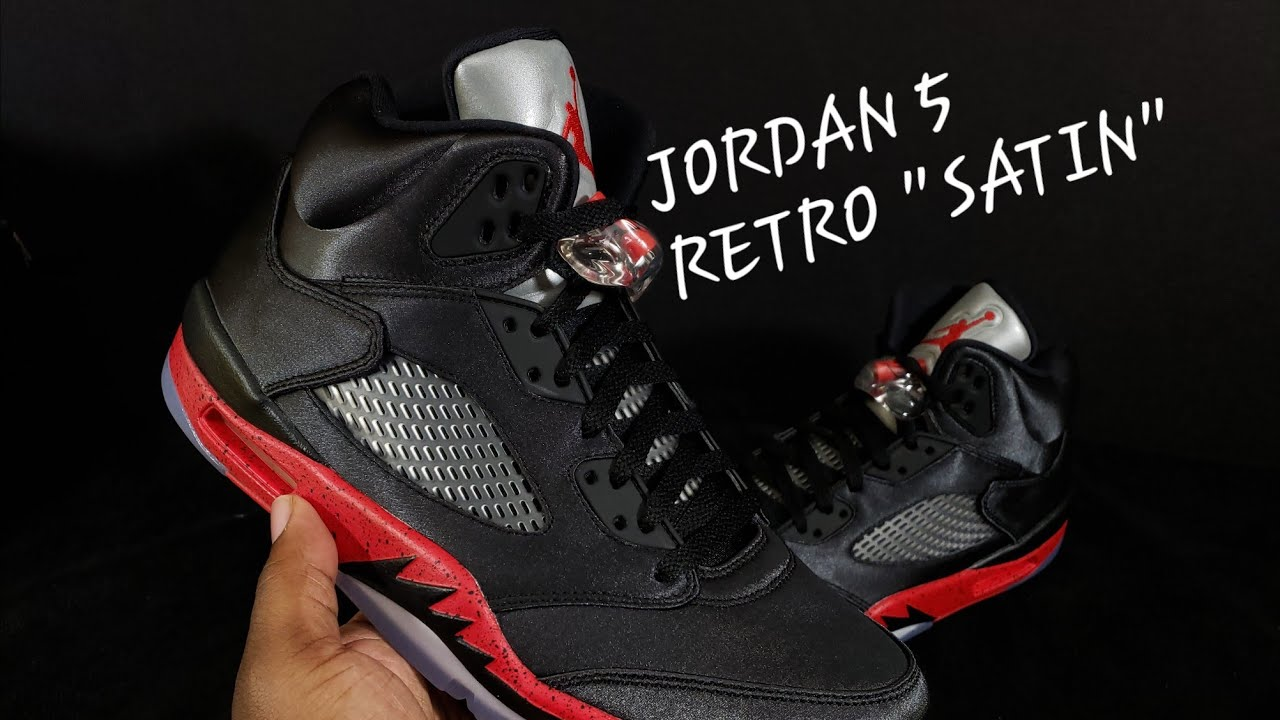 0de16d25e999 FIRST LOOK  AIR JORDAN 5 SATIN