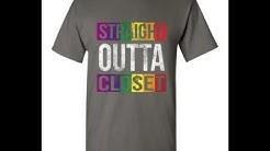 LGBT Lesbian Gay Bisexual Transgender. Straight Outta Closet Shirt Long Sleeve Tank