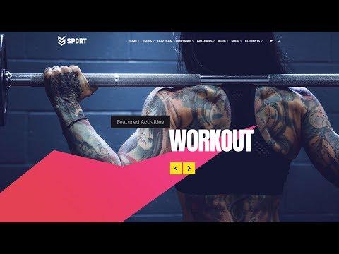 Sport WordPress Theme - Sporting Club Website Builder