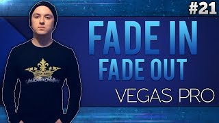 Sony Vegas Pro 13: Fade In & Fade Out - Tutorial #21