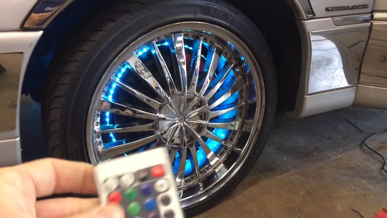 Wheel light kit for sale Led Neon rims - YouTube