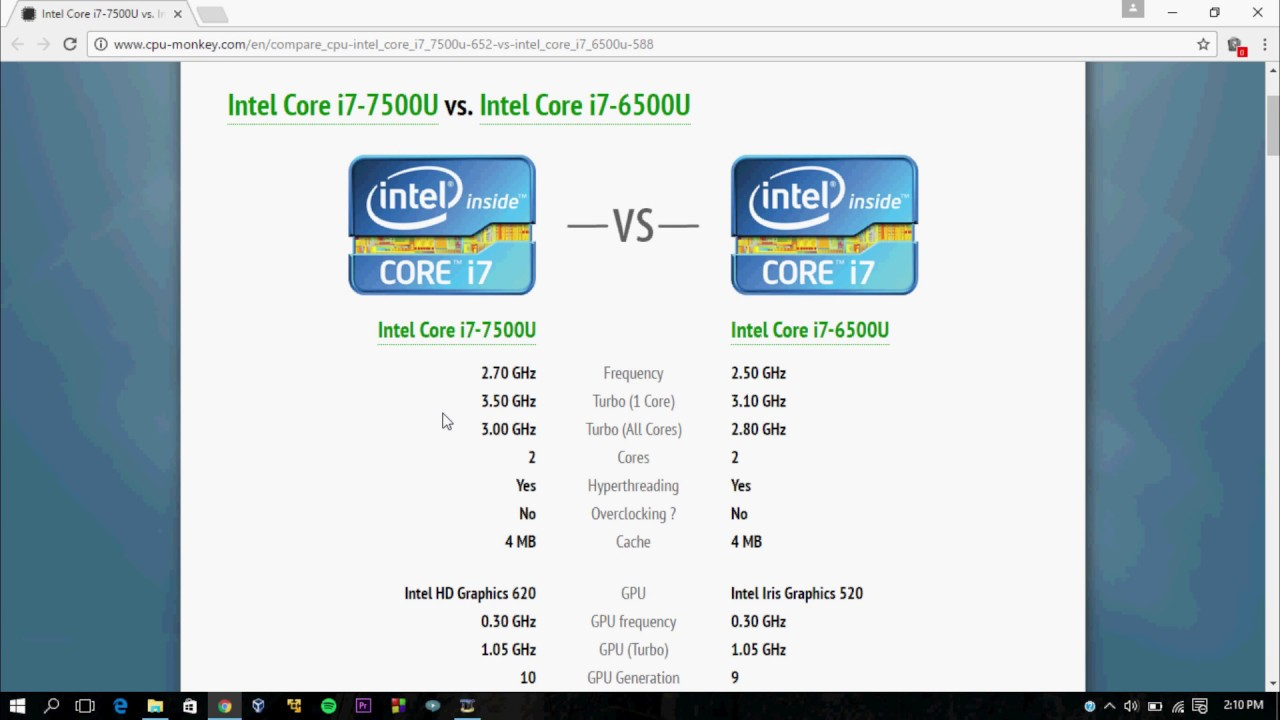 intel core i7 6500u vs i7 7500u with benchmarks youtube. Black Bedroom Furniture Sets. Home Design Ideas