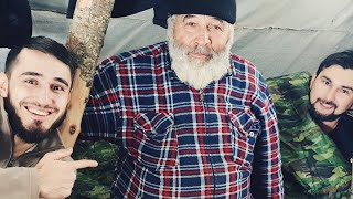 Отшельник в горах Чечни.