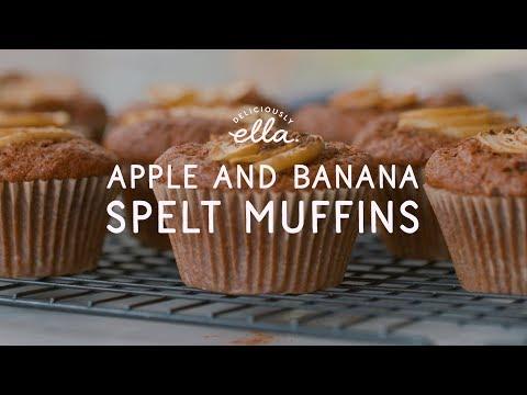 Apple Banana Spelt Muffins | Deliciously Ella | Vegan