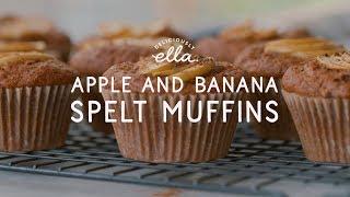 Apple Banana Spelt Muffins  Deliciously Ella  Vegan