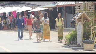 Cotton Festival in Northern Thailand part 2 - Food, arts and crafts sale