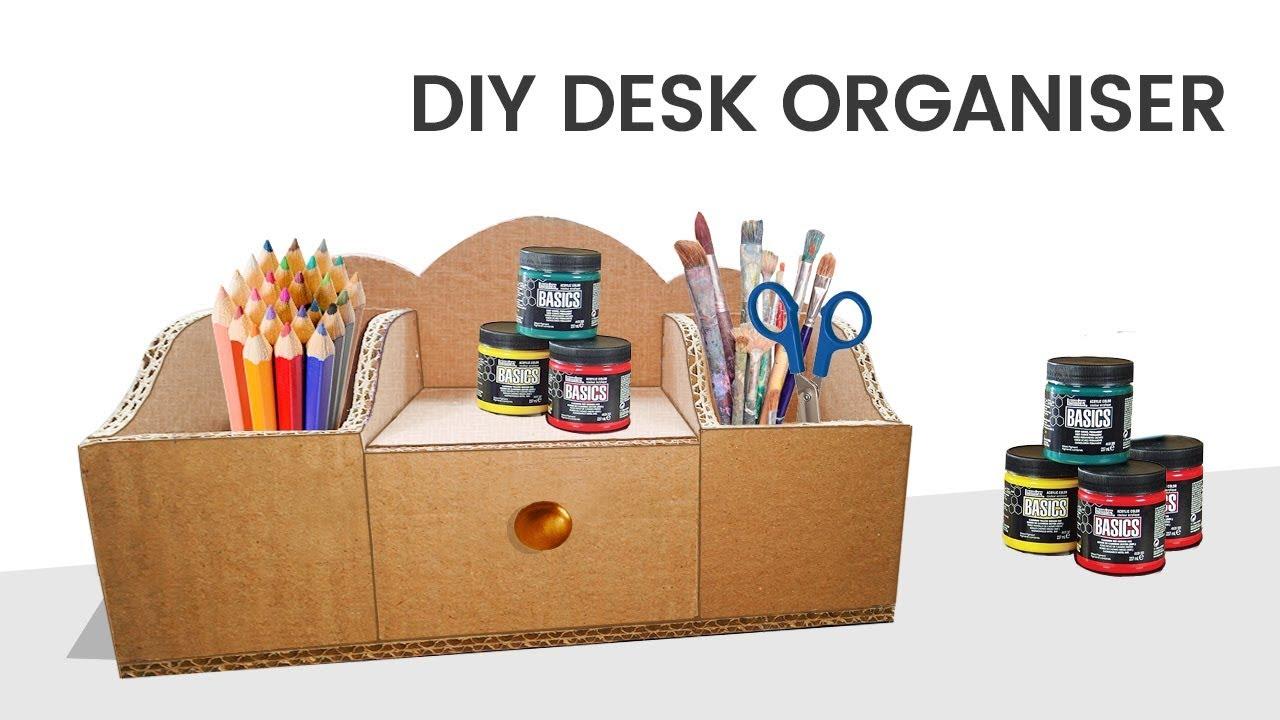 Do It Yourself Home Design: Cardboard DIY Desk Organizer