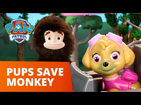 GIANT Monkey Rescue! 🙉 PAW Patrol Toy Pretend Play Rescue