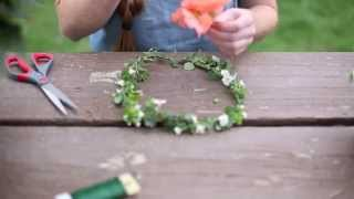 The Most SIMPLE Way To Make A Flower Crown || REAL Flowers