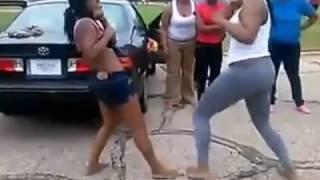 Black girls fight over Facebook beef
