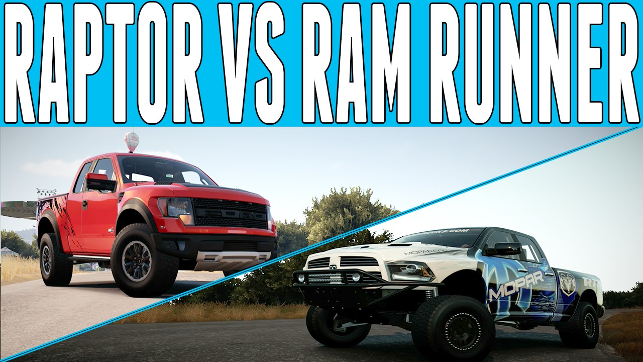 Dodge Ram Runner >> Forza Horizon 2 Versus : Ford SVT Raptor vs Dodge RAM ...