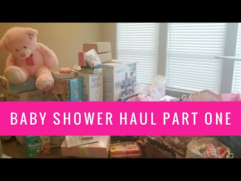 b97994bf1 Baby Shower Haul Part 1 | Phillips Fam Baby Shower Gifts Unboxing - YouTube