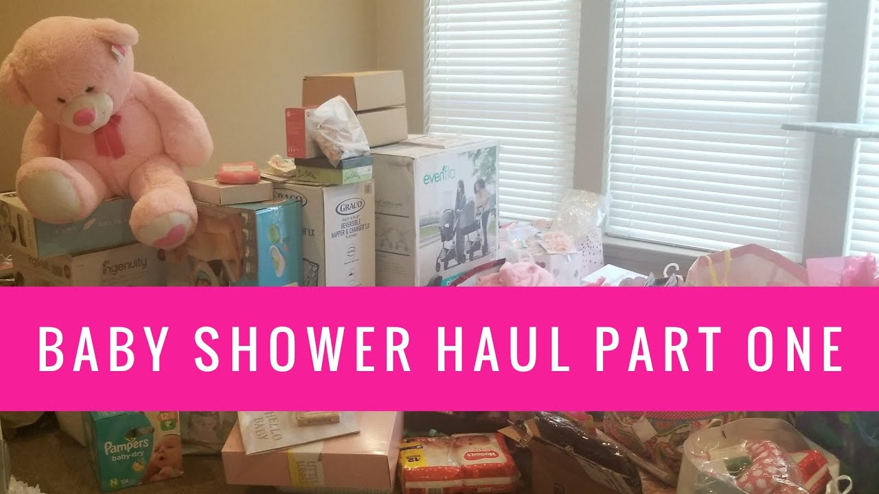 25f4ac880 Baby Shower Haul Part 1 | Phillips Fam Baby Shower Gifts Unboxing ...