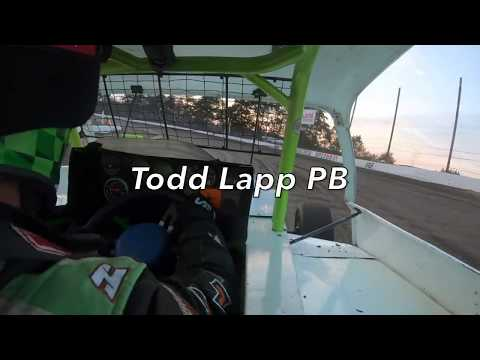 Todd Lapp On-Board at Grandview Speedway September 28, 2019