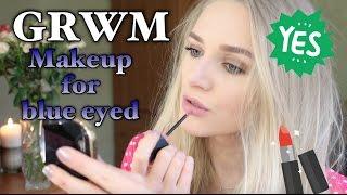 видео макияж для голубых глаз и светлых