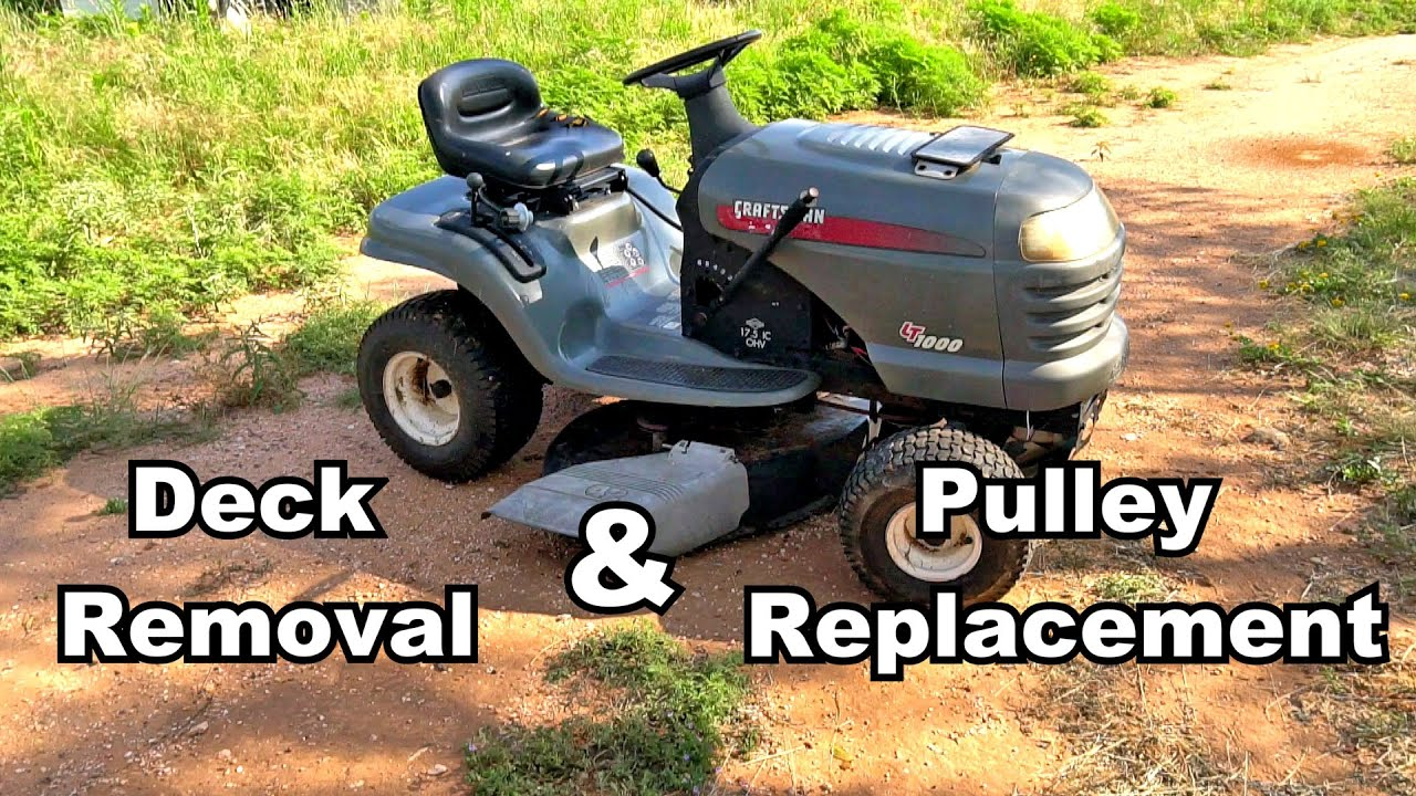 How To Diy  Craftsman Lt1000 Lawn Mower  Deck Removal And