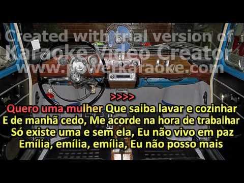 NELSON GONÇALVES   KARAOKE, VIDEOKE   AOS PÉS DA SANTA CRUZ   EMÍLIA
