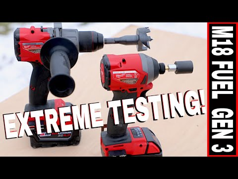 MILWAUKEE M18 HAMMER DRILL & IMPACT DRIVER COMBO KIT REVIEW- MODEL 2997-22