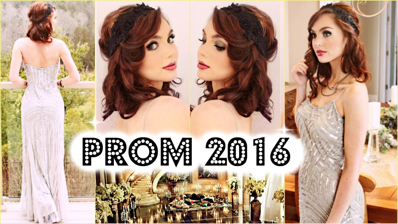 Grwm Prom 2016 Great Gatsby 1920 S Fler Makeup Bob Gown You