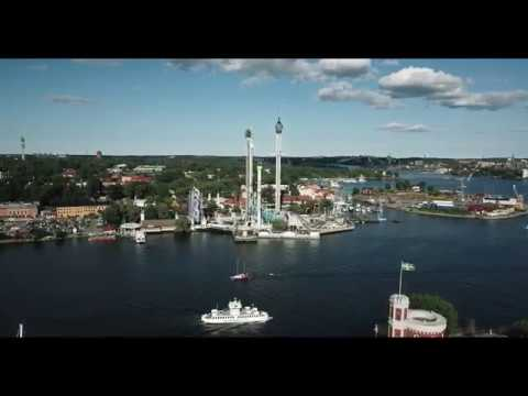 Summer in Stockholm drone footage 4K