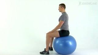 Kiropraktorgruppen - Sittende bekkenvipp med ball