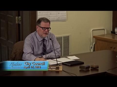 Hudson City Council Annual Organizational Meeting April 17, 2018