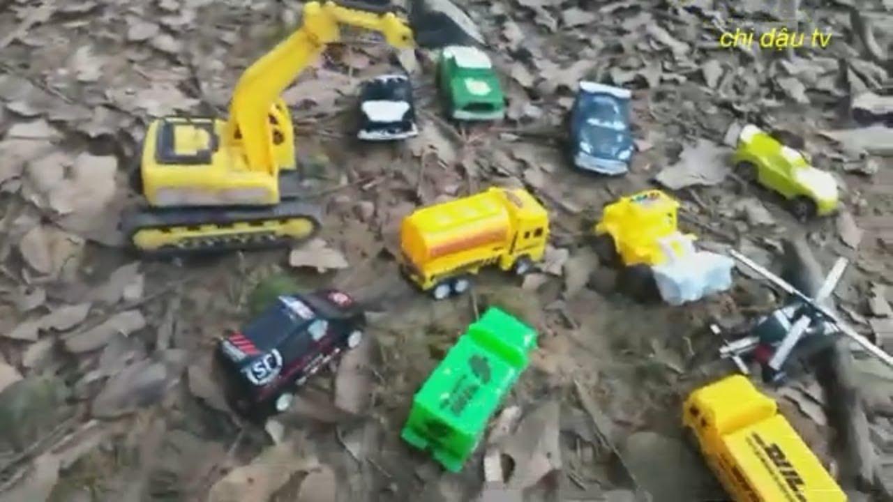 Máy xúc  , máy múc, ô tô bồn, xe cuốc,máy bay | Excavators, excavators, tank trucks,Chị Dậu TV