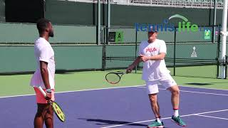 Frances tiafoe gets back to basics with new coach wayne ferreira at the indian wells challenger, march 4, 2020