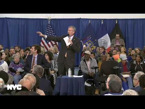 Mayor de Blasio Participates in Town Hall
