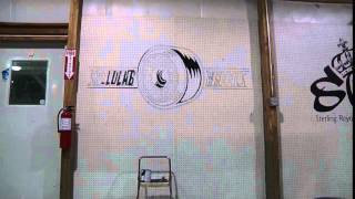 Charmcity Skatepark crew draw a Speed Lab wheels logo
