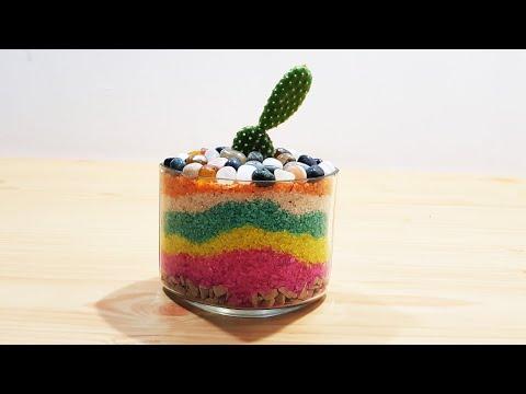 Layered Sand Succulent / Cactus Planter  DIY 