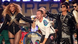 Watch Beyonce Totally Slay (With Chris Martin and Bruno Mars) At the Pepsi Super Bowl Halftime Sh…