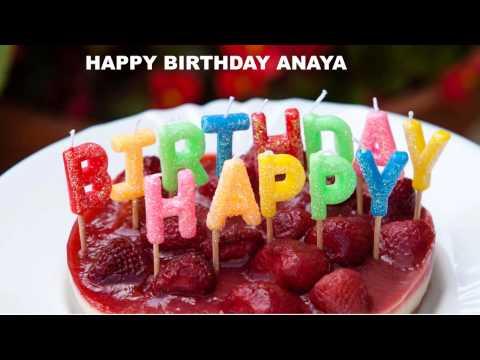 Anaya birthday Cakes Pasteles - Happy Birthday ANAYA